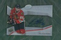 2008 UD Glacial hockey card Patrick Kane autographed signed Chicago Blackhawks