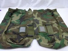 SET OF 2 Military Protective Carrying Bag Ensemble Utility Bag Woodland Camo