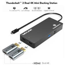 Wavlink Thunderbolt 3 Mini Docking Station Dual 4K DP to HDMI Adapter USB for PC