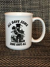 "U.S. Military Coffee Mug - ""All Gave Some, Some Gave All""- 10 oz -Free Shipping!"