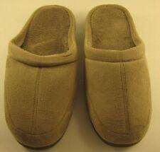 New Mens Stafford Memory Foam Slip-on Beige/Tan Slippers, Large (9.5-10.5)