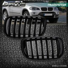 New For BMW E70 X5 E71 X6 2007-2013  Front Bumper Kidney Grille Glossy Black