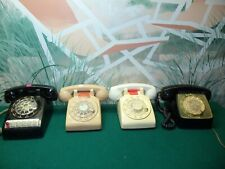 LOT OF 4 VINTAGE ROTARY DIAL TELEPHONES -  2 x Western Electric, 1 X ITT, etc
