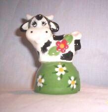 Cow d139 20.420.1 Ceramic Cow w / Flower Pie Bird