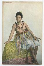South Pacific SAMOA Nude woman original old 1910s postcard