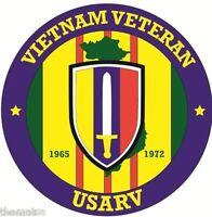 ARMY USARV VIETNAM VETERAN BUMPER CAR STICKER DECAL