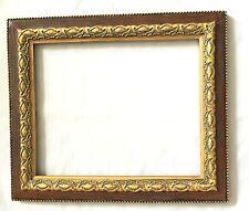 Vintage Plaster Rectangle Frame Picture Photo beaded edge ornate gold guilt