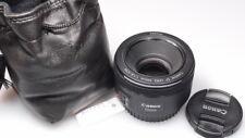CANON EF 50mm 1:1.8 STM PRIME LENS W/CAPS MINT
