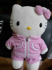 "Hello Kitty  Backpack Adjustable Strap 16"" Plush Soft Toy Stuffed Animal jogging"