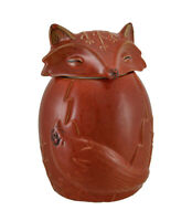 Scratch & Dent Orange Ceramic Fox Cookie / Treat Jar