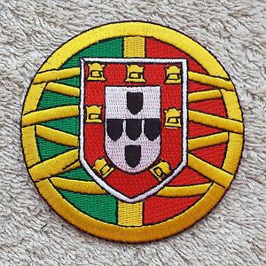 "PORTUGAL LOGO PATCH 3"" Cloth Badge/Emblem/Insignia Biker Jacket Bag Iron Sew on"