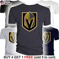 Las Vegas Golden Knights T-Shirt Logo LV Men Cotton