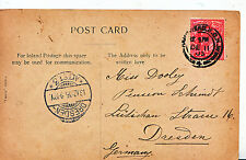 Genealogy Postcard - Family History - Dooley - Dresden - Germany    686A