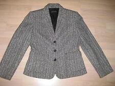 VOGUE Luxus Tweed Jacke Blazer Gr.36 grau Mix Neuw.