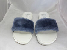 Mister'n'Miss Aegean Blue Fur Sliders UK6 EU39 JS12 06