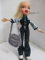 BRATZ DOLL LONG BLONDE HAIR JEANS TOP JACKET BOOTS & SPORTS BAG