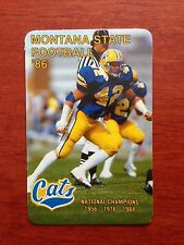 CFB 1986 MONTANA STATE BOBCATS Football Schedule College FB