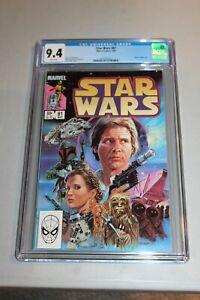CGC 9.4 White Pages Star Wars 81 1984 Return of Boba Fett Han Solo Mandalorian