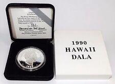 Royal Hawaiian Mint 1990 *DIE VARIETY* Hawaii Dala 1 Troy Oz 999 Fine PR Silver