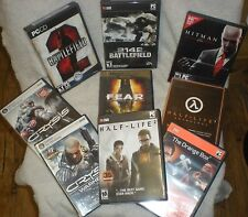 Assorted PC Games Lot of 9 CRYSIS, CRYSIS WARHEAD, BATTLEFIELD2 pluse more