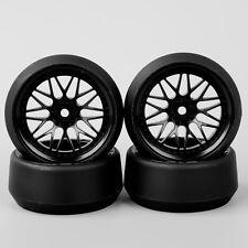 4Pcs 6mm Offset RC 5° Drift Tires&Wheel Rim BBNK+PP0370 For 1:10 On-Road Car