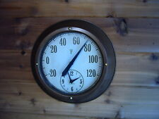 Springfield Thermometer & clock Metal wall Mount