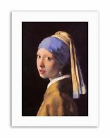 JOHANNES VERMEER GIRL WITH PEARL EARRING Painting Old Master Canvas art Prints