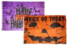3x5 Happy Halloween 2 Pack Flag Wholesale Set Combo #22 3'x5' Banner Grommets