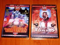 EL CASTILLO DE LAS VAMPIRAS / DESNUDA ENTRE LAS TUMBAS Jean Rollin DVD R2 Precin