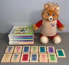 Vintage Teddy Ruxpin w/13 Cartridges & 17 Books World of Wonder Playskool