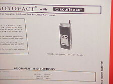 1972 LAFAYETTE CB RADIO SERVICE SHOP MANUAL MODEL DYNA-COM 12a (99-32484)