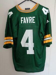 Vtg Brett Favre Green Bay Packers Jersey Green Adidas Medium