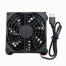 5V USB Power 80mm Silence Cooling Fan with Fan Grill Screw Cooler For Router