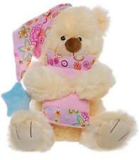 Soft Teddy Bear with Pink Hat & Pillow, Gift for Baby Girl, Baby Shower Gift