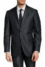 Perry Ellis Mens Charcoal Twill Slim Fit Stretch Two-Button Suit Jacket $260 NEW