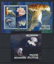 TUVALU  2016  PACIFIC JELLYFISH  2 SHEETS UNMOUNTED MINT, MNH