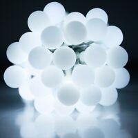 Connectable Warm White 33FT 100 LED Festoon Ball Fairy String Lights Globe LEDs