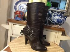Miss Sixty Women's Shoes Size 37/ 7 Brown Leather Mid Calf Boots