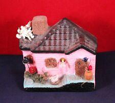 "Vintage 4"" Ceramic House Cottage Figure Shelf Decor"