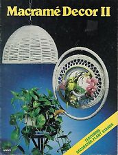 Macrame Decor II Rare Vintage Craft Book MM601 Lamp Shade & Plant Stand Patterns