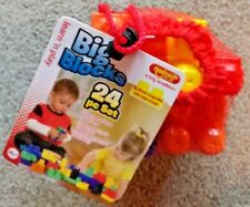 Amloid Big Blocks Learn 'n Play 24 pc set in recloseable netting bag *BRAND NEW*