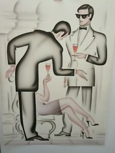 """ERIK FREYMAN """" LE GALLANT """" AIRBRUSH PAINTING HAND SIGNED/#'ED   SOLD OUT"""