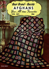 Bear Brand & Bucilla #327 c.1944 - All Time Crochet Favorite Afghans in Color