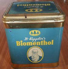 DR. Kepplers Biomenthol Antik Cabinetdose Blechdose shabby Dose Tante Emma Rar!