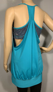 Lululemon No Limits Tank Bra Top Blue Tropics Wee Are From Space Size 12