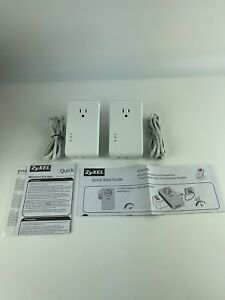 ZyXEL AV2000 Pass-thru Ethernet Adapter Powerline Pack of 2, excellent condition
