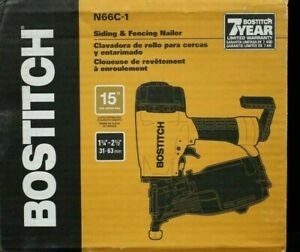 """BOSTITCH N66C-1 COIL SIDING & FENCING NAILER 1-1/4"""" TO 2-1/2"""" 15-DEGREE NEW"""
