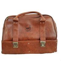 Drakes Pride Bowling Bag RARE Vintage Large Maxi Leather Look + Henselite Bowls