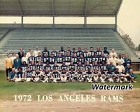 NFL 1972 Los Angeles Rams Team Picture Color 8 X 10 Photo Picture