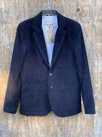 Zara Man Sport Coat Black Corduroy Size Large 100% Cotton 2 Button Jacket